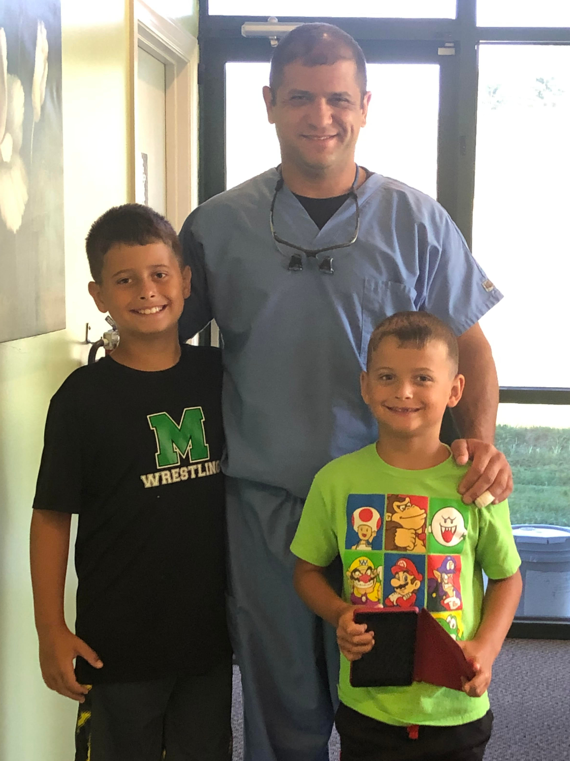 Dr. Balsly and his two sons